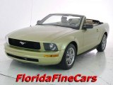 2005 Legend Lime Metallic Ford Mustang V6 Premium Convertible #14707125