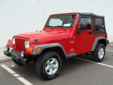 2006 Flame Red Jeep Wrangler X 4x4 #14647920