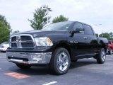 2009 Brilliant Black Crystal Pearl Dodge Ram 1500 Big Horn Edition Crew Cab 4x4 #14711394