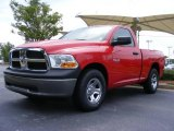 2009 Flame Red Dodge Ram 1500 ST Regular Cab #14711386