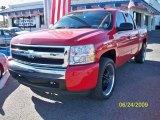2008 Victory Red Chevrolet Silverado 1500 LS Crew Cab 4x4 #14798700