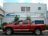 2008 Blaze Red Crystal Pearl Dodge Ram 1500 Laramie Quad Cab 4x4 #14827633