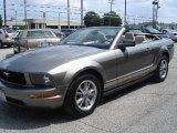 2005 Mineral Grey Metallic Ford Mustang V6 Premium Convertible #14842549