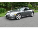 2008 Meteor Grey Metallic Porsche 911 Carrera S Cabriolet #14829013