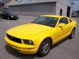 2005 Screaming Yellow Ford Mustang V6 Deluxe Coupe #14830180