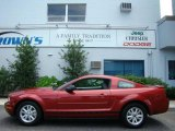 2007 Redfire Metallic Ford Mustang V6 Deluxe Coupe #14827619