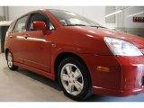 2002 Suzuki Aerio Bright Red