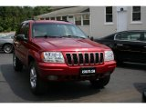2002 Inferno Red Tinted Pearlcoat Jeep Grand Cherokee Limited 4x4 #14937396