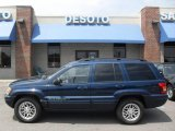 2002 Patriot Blue Pearlcoat Jeep Grand Cherokee Limited 4x4 #14934478