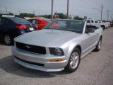 2007 Satin Silver Metallic Ford Mustang V6 Deluxe Convertible #14988843