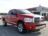 2007 Flame Red Dodge Ram 1500 Laramie Quad Cab #15004694