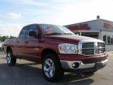 2008 Inferno Red Crystal Pearl Dodge Ram 1500 Lone Star Edition Quad Cab 4x4 #15004706