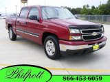 2007 Sport Red Metallic Chevrolet Silverado 1500 Classic LS Crew Cab #15063171