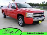 2007 Victory Red Chevrolet Silverado 1500 LT Extended Cab #15063172