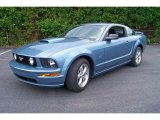 2007 Windveil Blue Metallic Ford Mustang GT Premium Coupe #15054365
