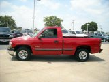 2002 Victory Red Chevrolet Silverado 1500 LS Regular Cab #15105185