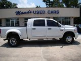 2007 Bright White Dodge Ram 3500 Laramie Mega Cab 4x4 Dually #15127037
