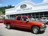 2001 Sunset Orange Metallic Chevrolet Silverado 1500 LS Extended Cab 4x4 #15123440