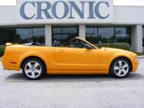 2007 Grabber Orange Ford Mustang GT Premium Convertible #15124107