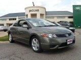 2007 Galaxy Gray Metallic Honda Civic EX Coupe #15111339