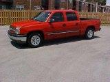 2005 Victory Red Chevrolet Silverado 1500 LS Crew Cab #15210091