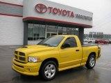 2005 Solar Yellow Dodge Ram 1500 SLT Rumble Bee Regular Cab #15200659