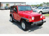 2006 Flame Red Jeep Wrangler X 4x4 #15126590