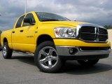 2007 Detonator Yellow Dodge Ram 1500 Big Horn Edition Quad Cab 4x4 #15262887