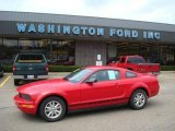 2007 Torch Red Ford Mustang V6 Deluxe Coupe #15276799