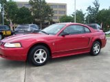 2000 Laser Red Metallic Ford Mustang V6 Coupe #15343397