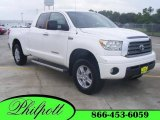 2007 Super White Toyota Tundra Limited Double Cab 4x4 #15338354
