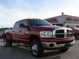 2007 Inferno Red Crystal Pearl Dodge Ram 3500 SLT Mega Cab 4x4 Dually #15335886