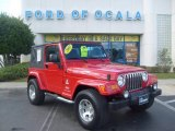 2003 Jeep Wrangler Flame Red