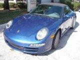 2007 Cobalt Blue Metallic Porsche 911 Carrera Cabriolet #1532006