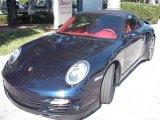 2008 Midnight Blue Metallic Porsche 911 Turbo Cabriolet #1532015