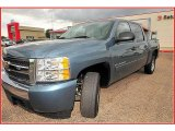 2008 Blue Granite Metallic Chevrolet Silverado 1500 LT Crew Cab #15391918