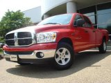 2007 Flame Red Dodge Ram 1500 SLT Quad Cab #15330301