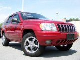 2002 Inferno Red Tinted Pearlcoat Jeep Grand Cherokee Limited 4x4 #15456324