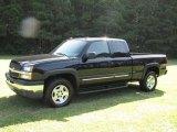 2005 Black Chevrolet Silverado 1500 Z71 Extended Cab 4x4 #15517264
