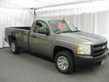 2008 Graystone Metallic Chevrolet Silverado 1500 Work Truck Regular Cab #15516853
