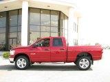 2008 Inferno Red Crystal Pearl Dodge Ram 1500 Big Horn Edition Quad Cab 4x4 #15523378