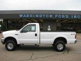 2003 Oxford White Ford F250 Super Duty XLT Regular Cab 4x4 #15577666