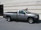 2007 Graystone Metallic Chevrolet Silverado 1500 Work Truck Regular Cab #15581963