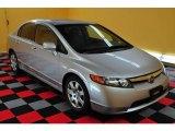 2007 Alabaster Silver Metallic Honda Civic LX Sedan #15579663