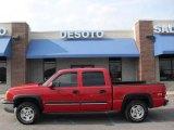 2005 Victory Red Chevrolet Silverado 1500 Z71 Crew Cab 4x4 #15630207