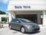 2006 Galaxy Gray Metallic Honda Civic Hybrid Sedan #15622496