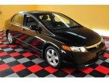 2007 Nighthawk Black Pearl Honda Civic EX Sedan #15634635
