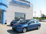 2007 Atomic Blue Metallic Honda Civic EX Sedan #15618687