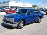 2004 Arrival Blue Metallic Chevrolet Silverado 1500 Regular Cab #1529227