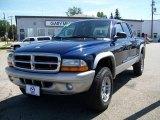 2004 Patriot Blue Pearl Dodge Dakota SLT Quad Cab 4x4 #15713490